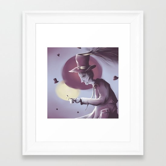 The hatter Framed Art Print