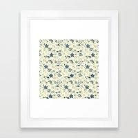 Birds N Flowers Framed Art Print