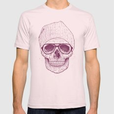 Cool skull Mens Fitted Tee Light Pink SMALL