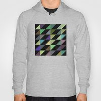 Tilted rectangles pattern Hoody