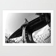 Under The Manhattan Bridge Art Print