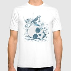 Death comes calling White SMALL Mens Fitted Tee
