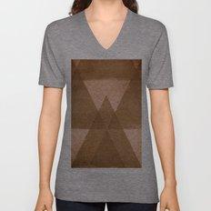 Distressed Triangles Unisex V-Neck