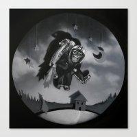 Monkey See Monkey Flew Canvas Print