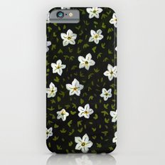 White Spring Flowers Slim Case iPhone 6s