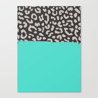 Colorblock Leopard Canvas Print