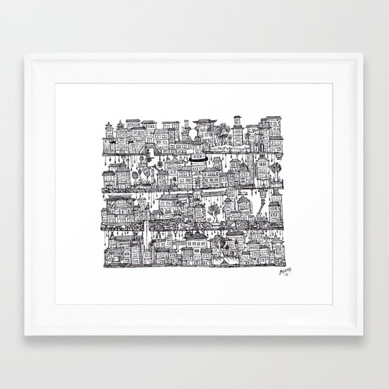 Box City  Framed Art Print