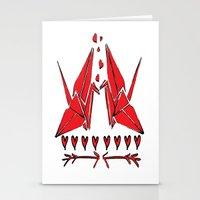 Origami Birds In Love Stationery Cards
