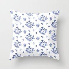 Clue in the Garden Throw Pillow
