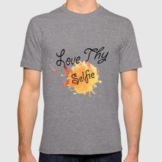 Love Thy Selfie Mens Fitted Tee Tri-Grey SMALL