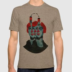 The cats in my head Mens Fitted Tee Tri-Coffee SMALL