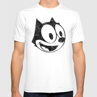 Felix The Cat 2 Mens Fitted Tee White SMALL
