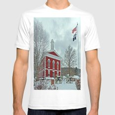 Iron County Courthouse White Mens Fitted Tee SMALL