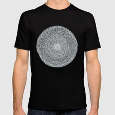 Darker Circle - Inverted colours Mens Fitted Tee Black SMALL