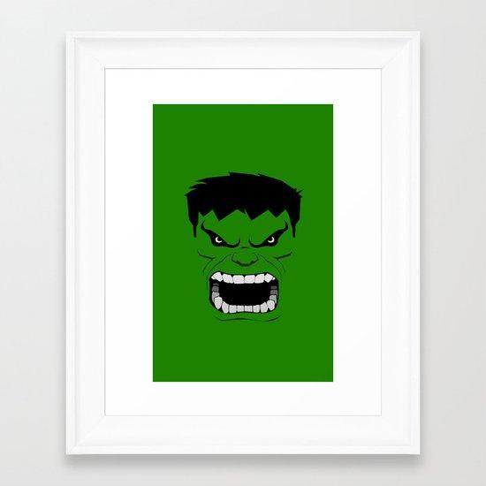 Minimalist Hulk Framed Art Print