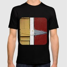 Isosceles Triangles on Wood  Mens Fitted Tee Black SMALL