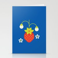 Fruit: Strawberry Stationery Cards