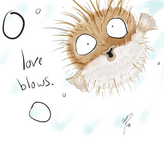 Love Blows Art Print