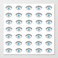 All Seeing Evil Eye  Canvas Print