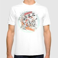 Earth's Mightiest Heroes Mens Fitted Tee White SMALL