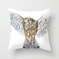 BUZZARD Throw Pillow