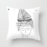Dreamer On Board Throw Pillow