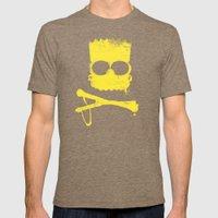 Pochoir - Bart Mens Fitted Tee Tri-Coffee SMALL