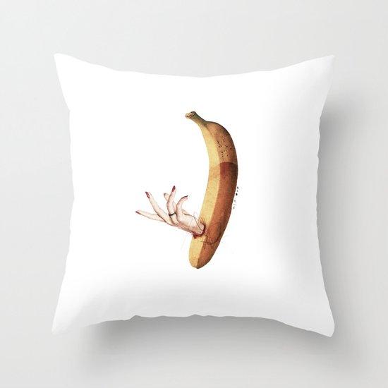 Faux   Collage Throw Pillow