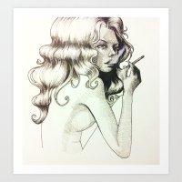 Smoked Art Print