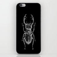 Lucanus cervus on dark iPhone & iPod Skin