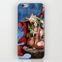 Feline counter bassist iPhone & iPod Skin