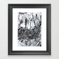 Phantom Flowers  Framed Art Print