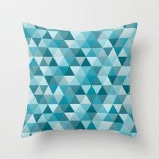 Geometric in Peacock Blue Throw Pillow