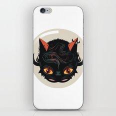 Devil cat iPhone & iPod Skin