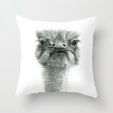 Ostrich G119 Throw Pillow