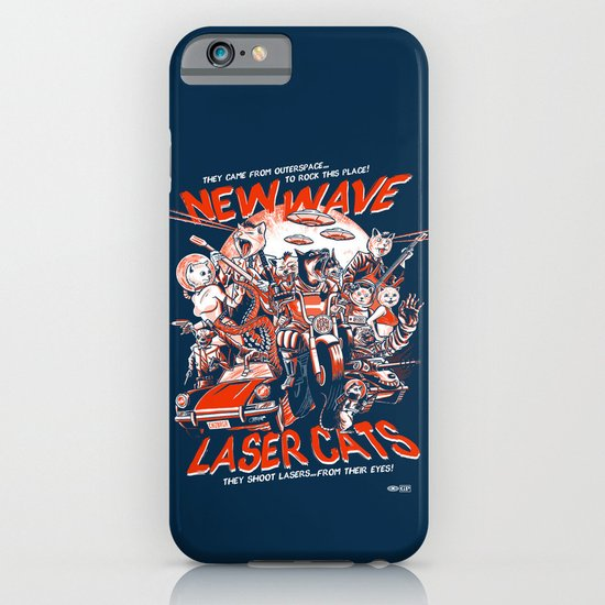 New Wave Laser Cats iPhone & iPod Case