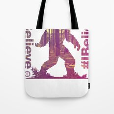 #Ibelieve Big Foot Tote Bag