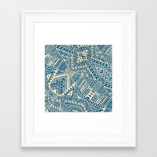 Tribal (blue)  Framed Art Print