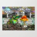 Doodlage 05 - Frog and Fungus   Canvas Print