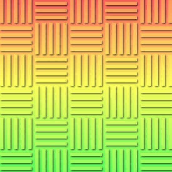 Basket Weave - Summer Colors Art Print