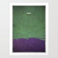 Hulk - minimal poster Art Print