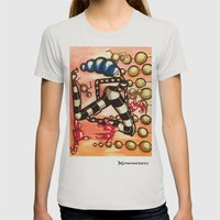 Bell Dancer Womens Fitted Tee Silver SMALL