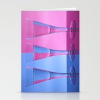 Refracted Wine Glasses  Stationery Cards