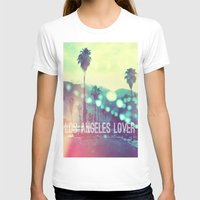 LA Lover Womens Fitted Tee White SMALL