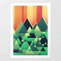 Summer Mountains Art Print