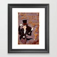 Zatanna! Mistress Of Mag… Framed Art Print