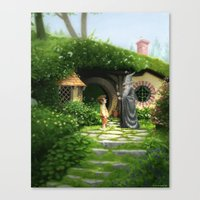 Bilbo Meets Gandalf Canvas Print