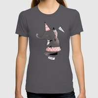 Circus is not funny for animals Womens Fitted Tee Asphalt SMALL