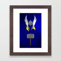 God of Thunder Framed Art Print