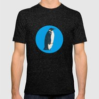 cyan penguin Mens Fitted Tee Tri-Black SMALL
